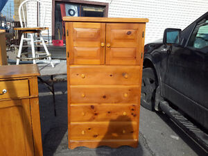 VINTAGE PINE HIGHBOY DRESSER MULTI DRAWERS ONLY $145.00