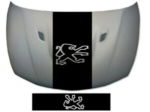 peugeot bonnet stripe 106 107 205 206 207 208 307 308 graphics decals stickers ebay. Black Bedroom Furniture Sets. Home Design Ideas