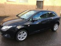 5808 Seat Ibiza 1.4 16v 85 Sport Coupe SE Black 3 Door 48111mls MOT 12m