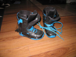 Woman snowboarding boots
