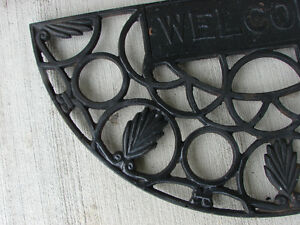 "OLD Cast Iron Door Mat 27"" x 14"" x 1"" Belleville Belleville Area image 4"