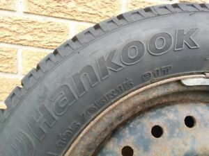 195/65R15 Hankook Winter Tires and Rims (Set of 4)