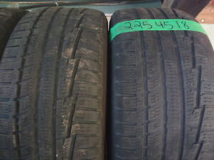 Two 225 45 18 winter tires