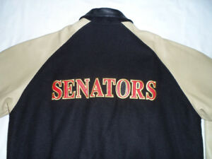 NIKE / OTTAWA SENATORS LEATHER & WOOL JACKET, MEN'S: M