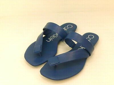 Calvin Klein Womens Saurin Open Toe Casual Slide Sandals, Seaport, Size 7.5 fxpi