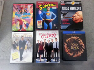 DVD Lord of the rings/the office/superman/hitchcock/willy wonka