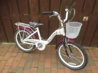 Girls Bike with Basket 16 inch