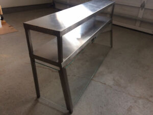 Sneeze Guard for prep table or counter top