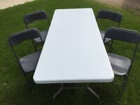 Folding tables / folding chairs / tents FOR RENT