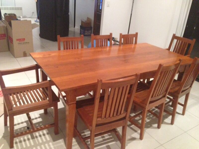 Dining table timber dining table queensland for Table for 6 brisbane