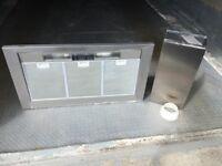 Bosch stainless steel cooker hood.