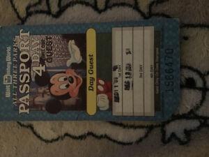 2 billets pour Walt Disney 2 jours all park