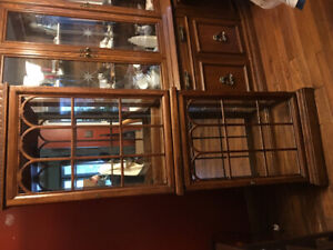 WOODEN DISPLAY CABINET- EXCELLENT CONDITION