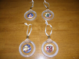 Princess House Crystal and Porcelain Christmas Ornaments