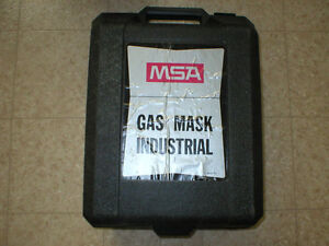 MASQUE MSA GAS MASK RESPIRATOR CANISTER FACE NEW NEUF
