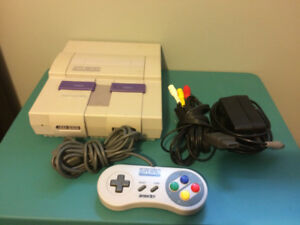 Snes Super Nintendo system and  hook-ups , 1 controller