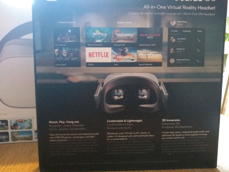 Oculus Go 32GB with hard carry case | in Redruth, Cornwall | Gumtree