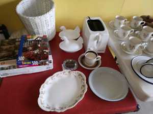 Garage Sale Antiques and Household Items