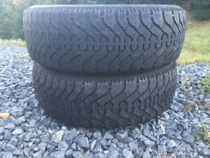 Two P205/55R16 Winter Tires