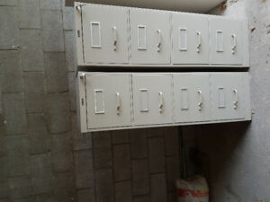 2 Staples Letter Size 4 Drawer File Cabinets