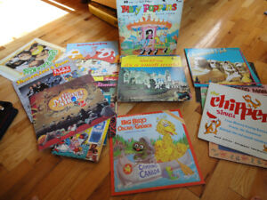 Childrens LP Records and songbooks