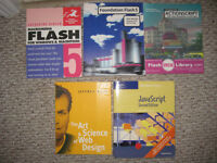 5 Web Design Books (Flash, Actionscript, JavaScript)