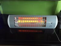 1.8kw wall mounted quartz bulb infrared patio heater