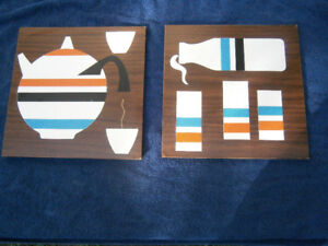 Vintage Turner Wall Accessory MCM Art Kitchen set of 2