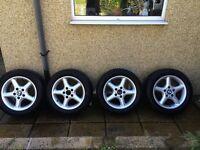 BMW compact E36 alloy wheels & tyres