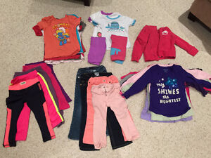 Girls Toddler Clothing Lot - 2T 3T Roots,Levi's,GAP (50 items)
