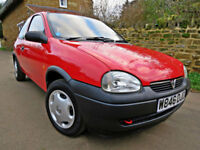 2000 (W) VAUXHALL CORSA 1.0i 12v TRIP. ONE OWNER with ONLY 16K MILES !!