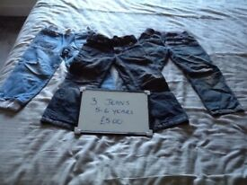 Bundle of jeans 5-6 years boy