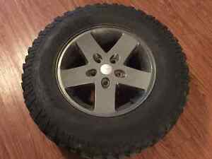 Set of 5 BF Goodrich Mud Terrain Jeep JK tires/rims Campbell River Comox Valley Area image 1