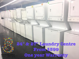 STACKABLE WASHER DRYER ALL SIZES FREE DELIVERY UNTIL SUNDAY