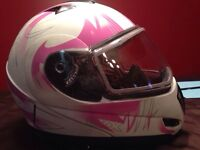 Women White and Pink helmet - Pics coming soon