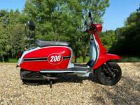 Scomadi TL200 2020 Red and Blue One Owner Immaculate Low Mileage Scooter