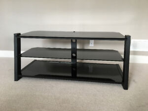 TV stand (glass and metal)