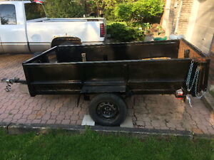 4 x 8 utility trailer with drop down ramp