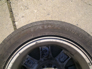 BMW E46 style 45 Mags with summer tires 205/55R16 West Island Greater Montréal image 7
