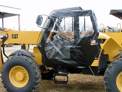 4 Sided Telehandler Soft Cab Kit W Wiper - Jlg Genie Terex Skytrak Cat Gradall