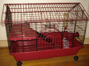 Small Pet Animal Cage W/ Rollers