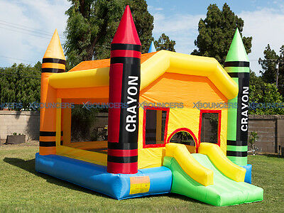 NEW  Crayon Bouncer Super Slide Bounce House Inflatable Jumper Castle