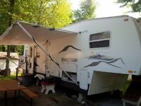 fifth wheel starcraft 2003  camping lac des pins
