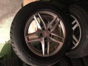 Winter tires with rims 235-60-r17 Bridgestones