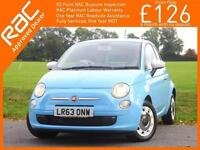2013 Fiat 500 0.9 Twinair Colour Therapy 5 Speed Bluetooth Air Con Just 1 Privat