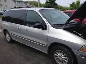 2000 Ford Windstar Grey Minivan, Van