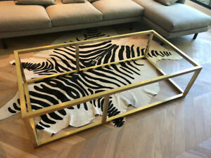 Modern Coffee Table base in Brushed Brass