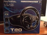Thrustmaster T80 steering wheel $70. O.b.o.