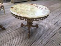 Antique marble top coffee table