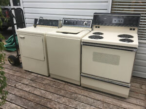 washer, dryer, oven